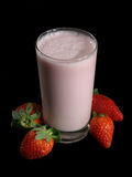 Strawberry milk shake Stock Photography