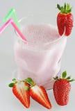Strawberry milk shake. A glass of strawberry milk shake Stock Photo