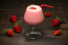 Strawberry milk-shake Royalty Free Stock Images