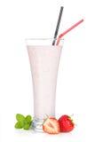Strawberry milk smoothie cocktail Stock Photo