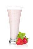 Strawberry milk smoothie cocktail Royalty Free Stock Photo