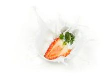 Strawberry milk splash Royalty Free Stock Image