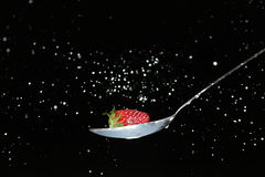Strawberry and milk Royalty Free Stock Images