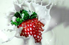 Strawberry, Milk, Strawberry Milk Royalty Free Stock Photos