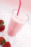 Strawberry Milkshake Stock Photo