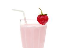 Strawberry milkshake Royalty Free Stock Image