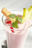 Strawberry milkshake Royalty Free Stock Images