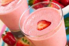 Free Strawberry Milkshake Royalty Free Stock Photos - 45389968