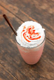 Strawberry milkshake with creme Royalty Free Stock Photo