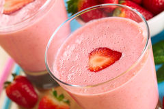 Strawberry Milkshake Royalty Free Stock Photos