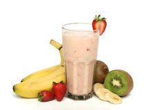 Strawberry milkshake with frui Royalty Free Stock Photography