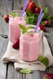 Strawberry milkshake. Royalty Free Stock Photos