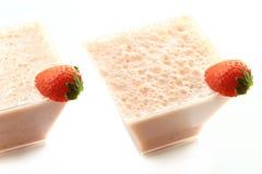 Strawberry milkshake Stock Photos