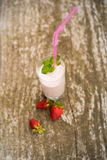 Strawberry milkshake smoothie Stock Photo