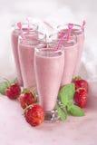Strawberry milkshakes Royalty Free Stock Photo