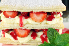 Strawberry Mille Feuille Stock Images