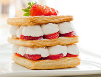 Strawberry Mille Feuille Stock Image