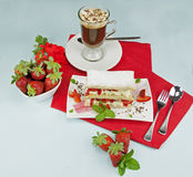 Strawberry Mille Feuille Royalty Free Stock Image