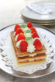 Strawberry mille feuille, French pastry Stock Photography