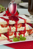 Strawberry Mille Feuilleb Stock Photos