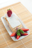 Strawberry Millefeuille Stock Photography
