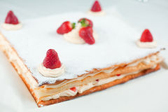 Strawberry Millefeuille Royalty Free Stock Photo