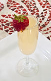 Strawberry Mimosa Cocktail royalty free stock photos