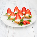 Strawberry mini tarts Stock Images