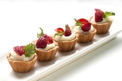 Strawberry mini-tarts Stock Images