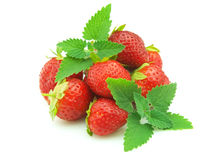 Strawberry with mint Royalty Free Stock Photography