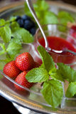 Strawberry and mint Stock Photos