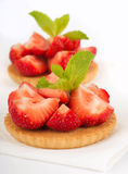 Strawberry and mint Stock Photo