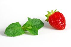 Strawberry and mint Stock Image