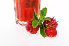 Strawberry and mint Royalty Free Stock Photo