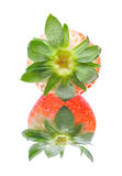 Strawberry on the mirror Royalty Free Stock Images