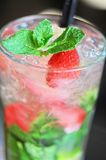 Strawberry mohito cocktail Stock Image