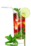 Strawberry mojito Stock Images