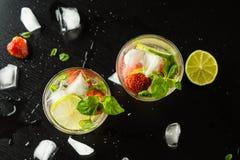 Strawberry mojito Royalty Free Stock Image