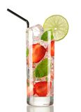 Strawberry mojito cocktail Royalty Free Stock Photo