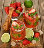 Strawberry mojito Stock Image