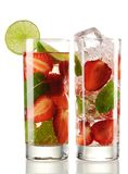 Strawberry Mojito cocktails Stock Photography