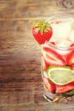 Strawberry mojito Royalty Free Stock Photography