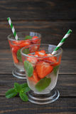 Strawberry mojito Royalty Free Stock Photo