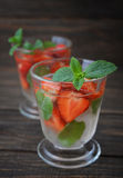 Strawberry mojito Stock Photography