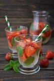 Strawberry mojito Royalty Free Stock Photo