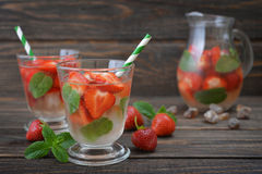 Strawberry mojito Royalty Free Stock Images