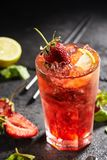 Fresh Strawberry Mojito Stock Photos