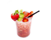 Strawberry mojito Royalty Free Stock Photos