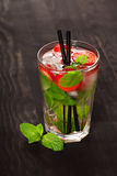 Strawberry mojito summer cocktail drink Stock Image