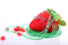 Strawberry and molecular food Royalty Free Stock Photography